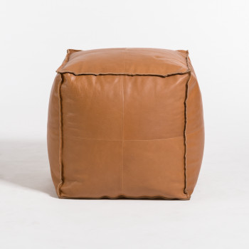 Barret Small Pouf Ottoman In Old Brandy