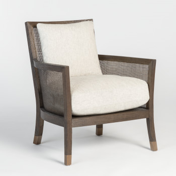 Bridgeport Occasional Chair In Subtle Wheat And Brushed Espresso