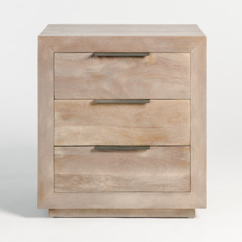 Holden Three Drawer Night Stand In Misted Ash