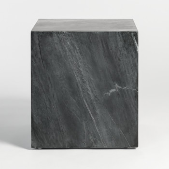 Lennox End Table In Greystone Marble