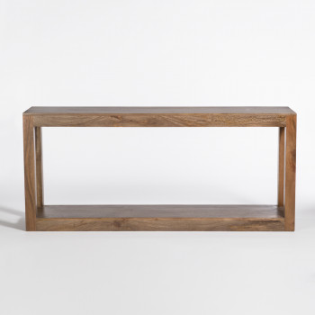 Morgan Console Table In Brindled Ash