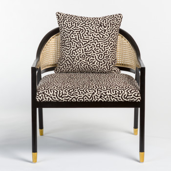 Sumatra Occasional Chair In Modern Maze And Onyx Oak