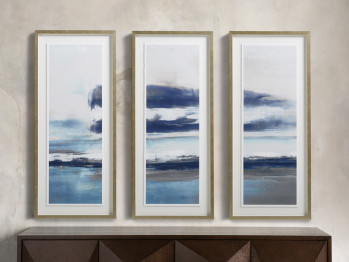 """22"""" Clearing Storm Framed Triptych"""