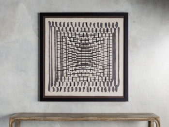 Abstract Lines Framed Tapestry 1