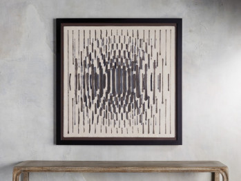Abstract Lines Framed Tapestry 2