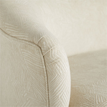 Duprey Settee Textured Ivory Grey