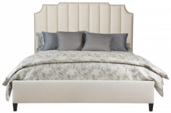King Bayonne Upholstered Bed, Low Footboard