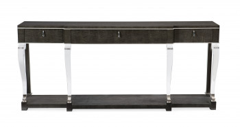 Black Maple Console Table With Acylic Accents
