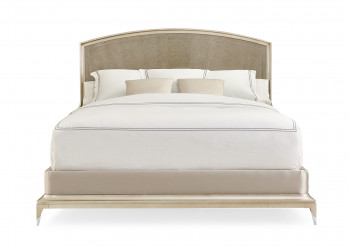 Silver Maple Panel Bed - King