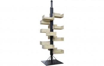 Monk Display, Reclaimed Lumber Shelves