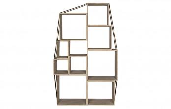 Reclaimed Lumber Texas Bookcase, Burlap Strap
