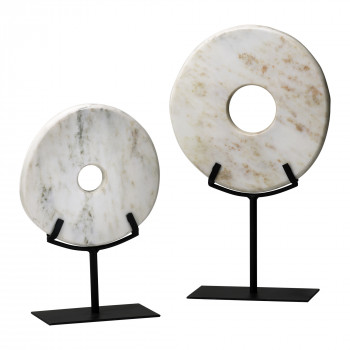 Small White Disk On Stand