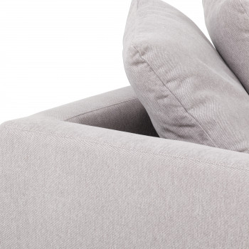 Brady Laf Single Chaise-Vail Silver