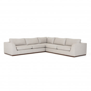 COLT 3- Piece Sectional Without Ottoman, Aldred Silver