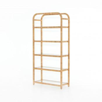 Dory Bookshelf-Honey Rattan