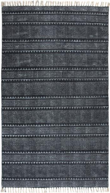 Indigo Block Print Rug, 8X10'