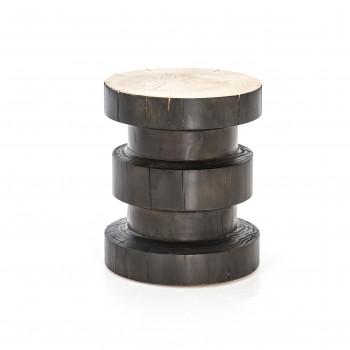 Inez End Table-Natural Pine/Black Pine