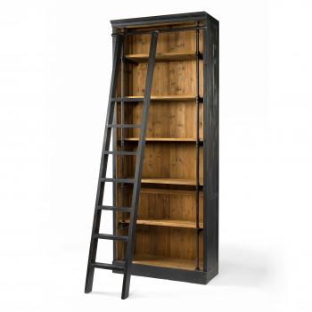 Ivy Bookcase And Ladder-Matte Black