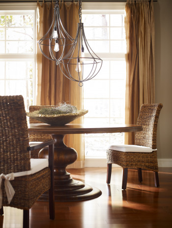 "Magnolia Round Dining Table-60""-Dark Oak"
