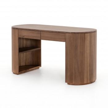 Pilar Desk-Caramel Brown Veneer
