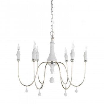 Clay Chandelier - Silver Small