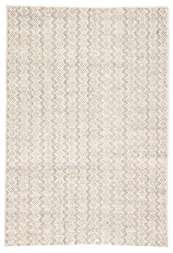 Jaipur Living Devyn Natural Geometric Ivory & White/ Black Area Rug (9'X12')