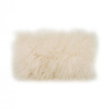 Lamb Fur Pillow Rect. Cream