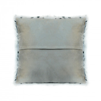 Spotted Goat Fur Pillow Light Grey