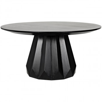 Brosche Dining Table, Hand Rubbed Black