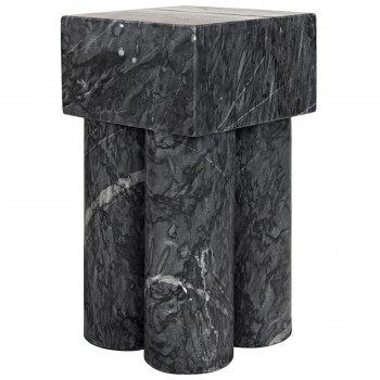 Cassidy Side Table, Black Stone