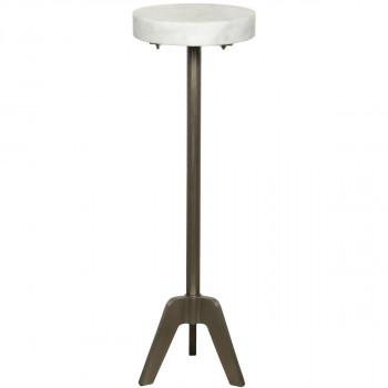 Fiasco Side Table, Antique Silver