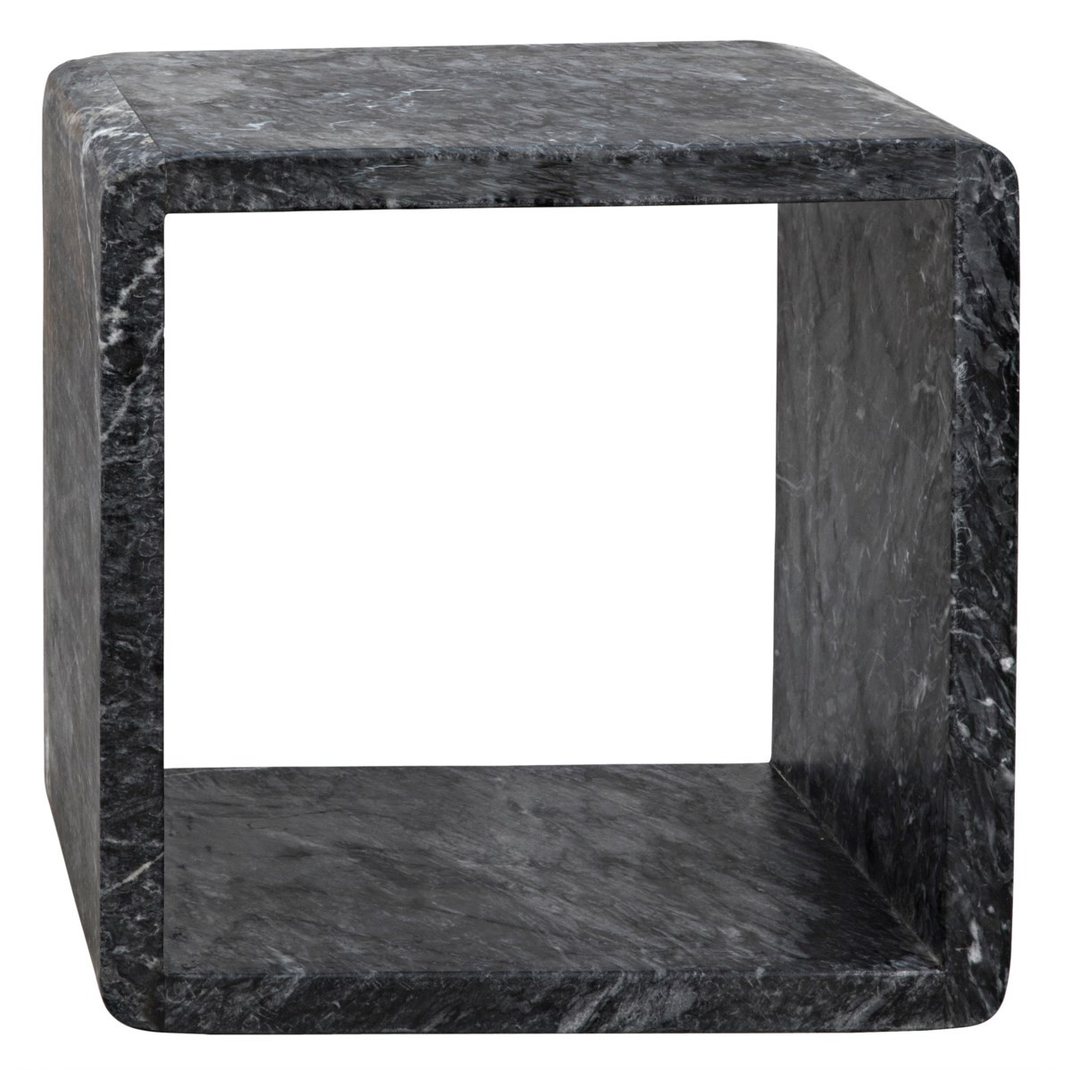 Foundation Side Table, Small, Black Marble