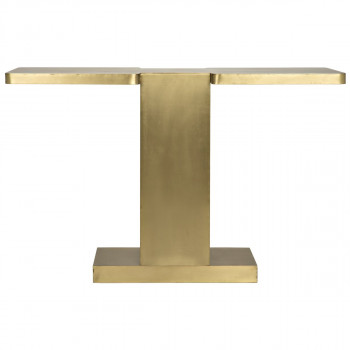 """Console, Simply stunning modern style in antique brass finish, 48""""W"""