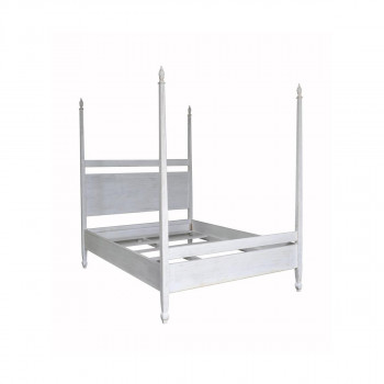 Qs Venice Bed, Queen, White Wash