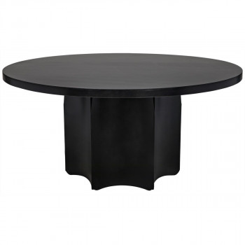 Rome Dining Table, Black Metal