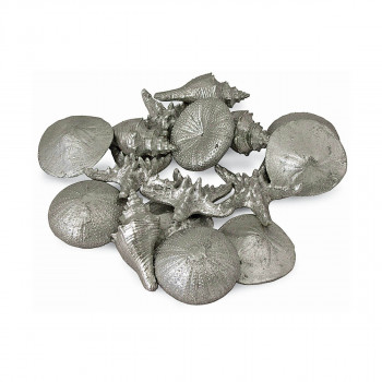 Assorted Mini Seashells Set Of 12 (Silver)