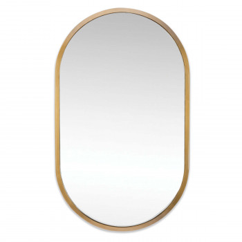 Canal Mirror (Natural Brass)