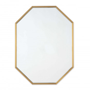 Hale Wall Mirror (Natural Brass)