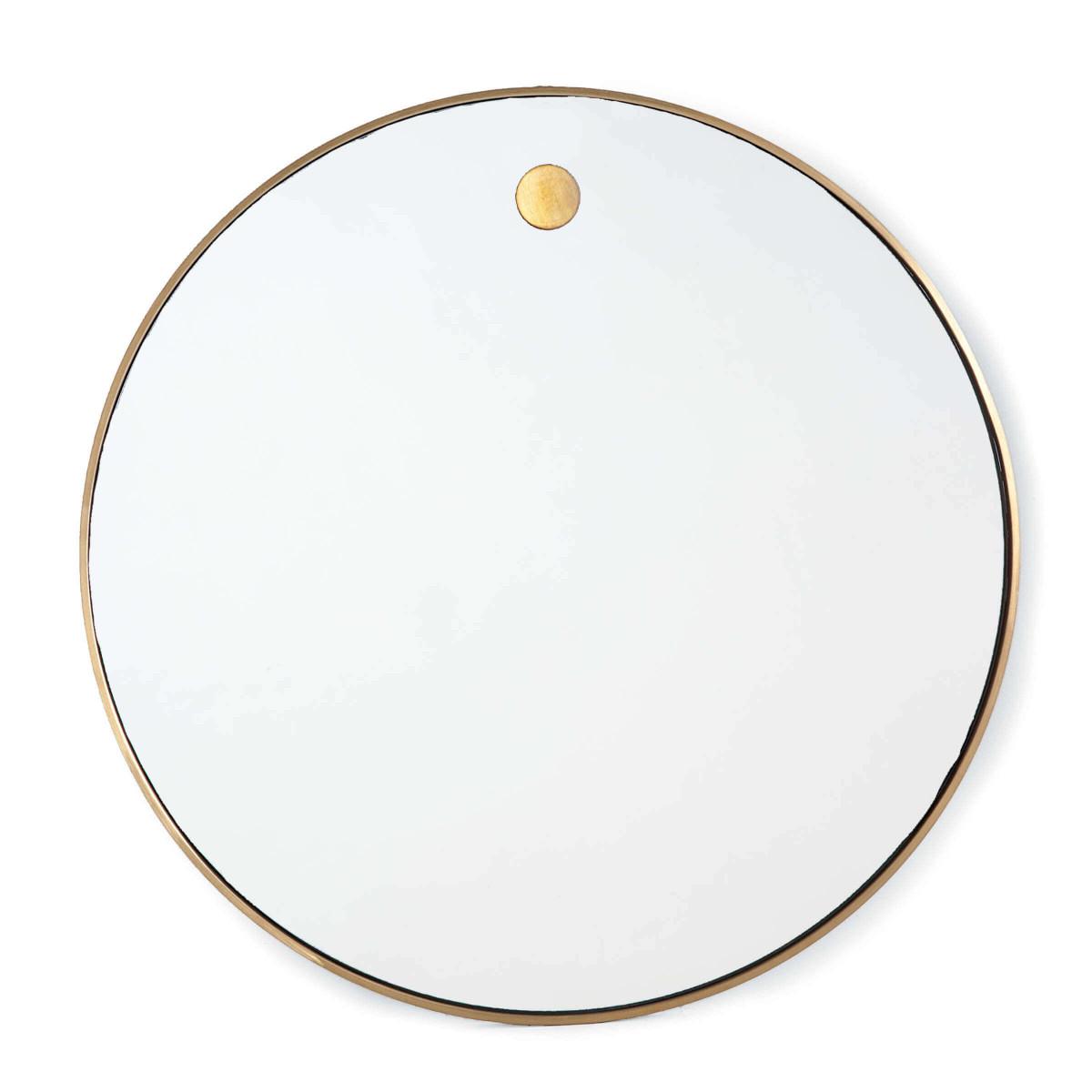 Hanging Circular Mirror (Natural Brass)