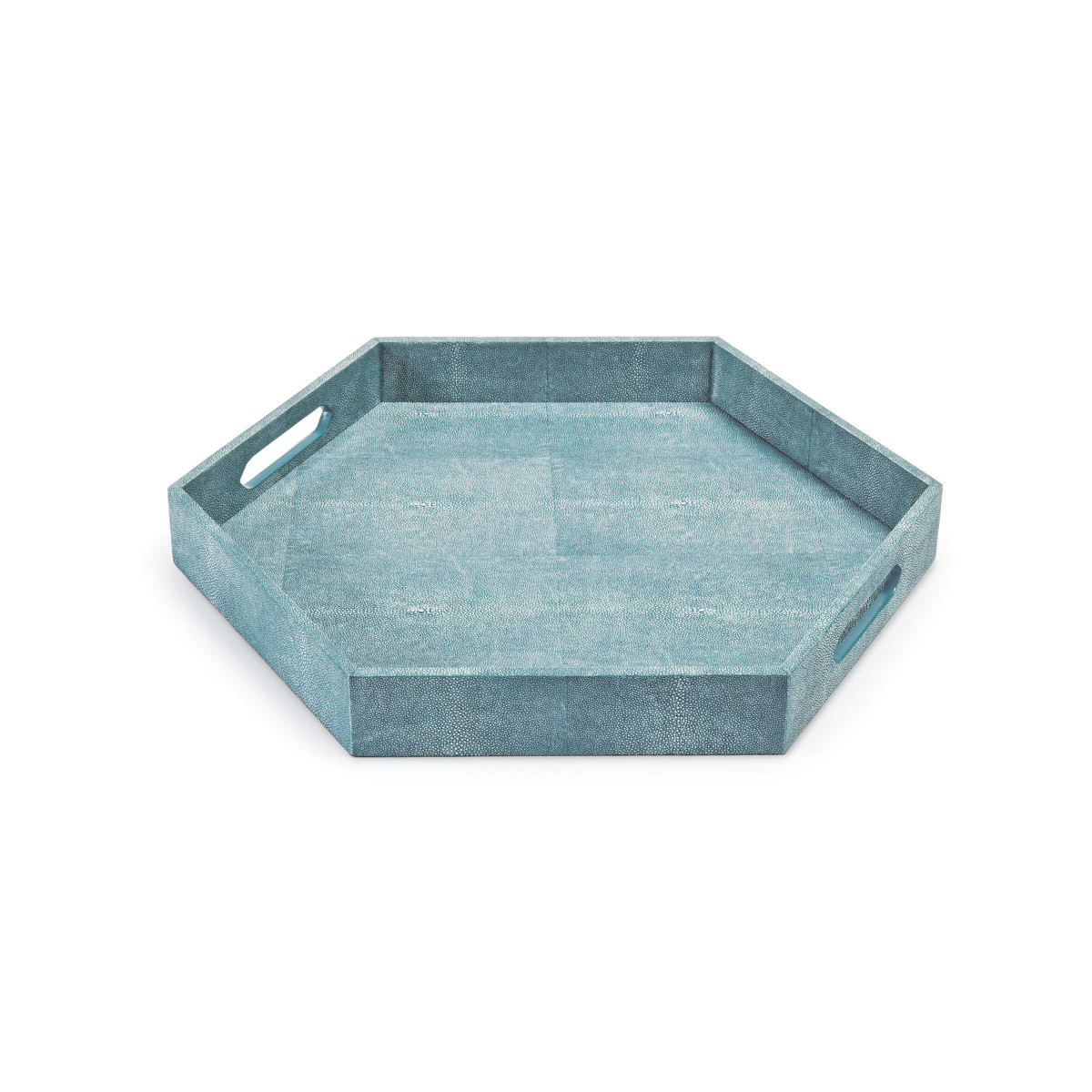 Shagreen Hex Tray (Turquoise)