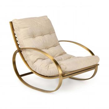 Simon Leather Chair (Cappuccino)