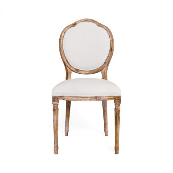 Louis Xvi Round S/Chair Gry Oak Cloud