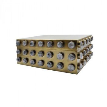 Alba Lg, Large Rectangle Brass Box