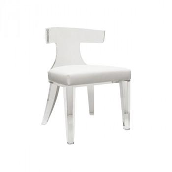 Duke Wh, Acrylic Klismos Chair
